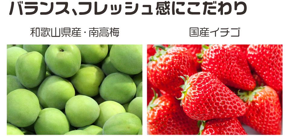 本場の産地紀州南高梅,生産量一番の和歌山のはっさく果汁